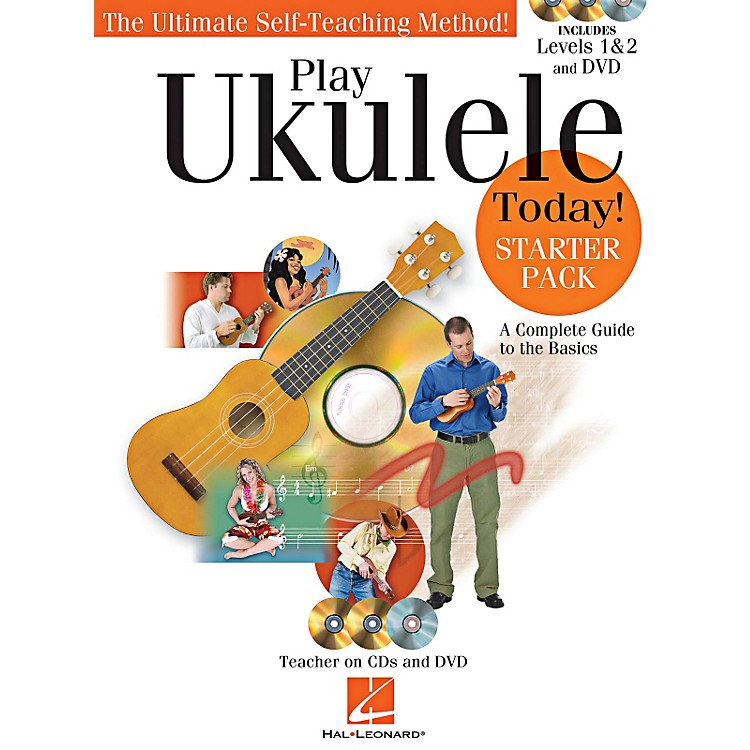 Hal LeonardPlay Ukulele Today! Starter Pack - Includes Levels 1 & 2 Book/CDs and a DVD