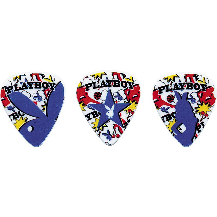 Clayton Playboy Fun Medium Guitar Picks 6-Pack