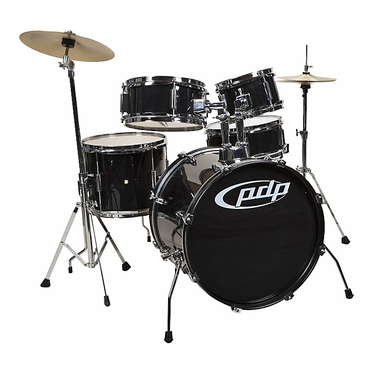 PDPPlayer 5-Piece Junior Drum Set with Cymbals and ThroneBlack