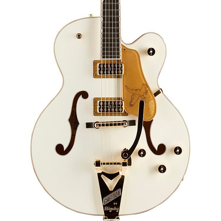 Gretsch GuitarsPlayers Edition G6136T Falcon Hollowbody with String-Thru Bigsby Electric GuitarWhite