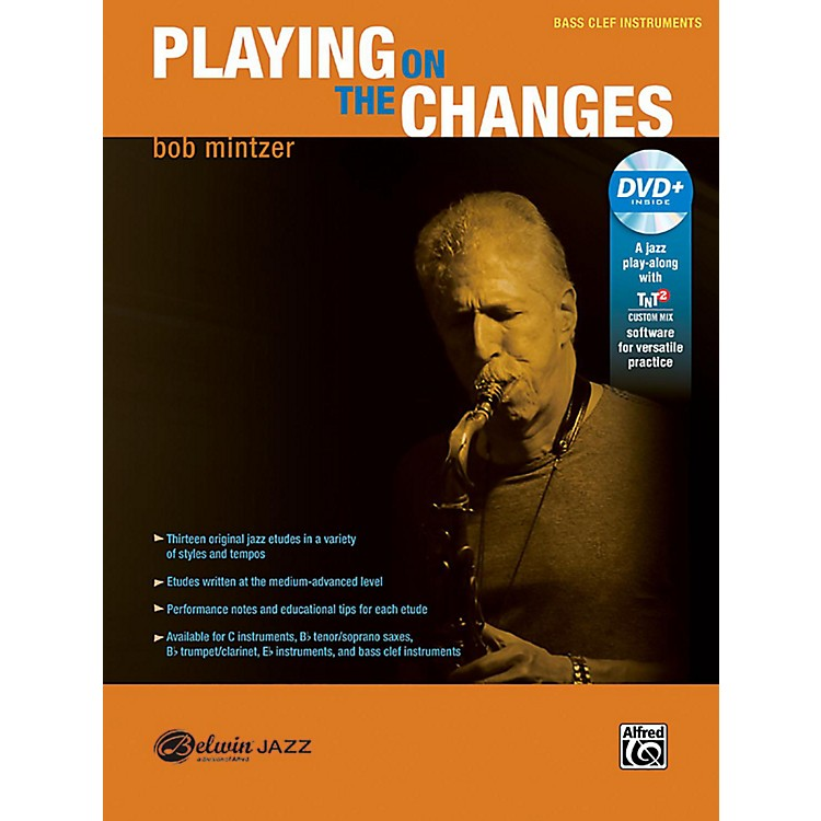 BELWINPlaying on the Changes Bass Clef Instruments Book & DVD