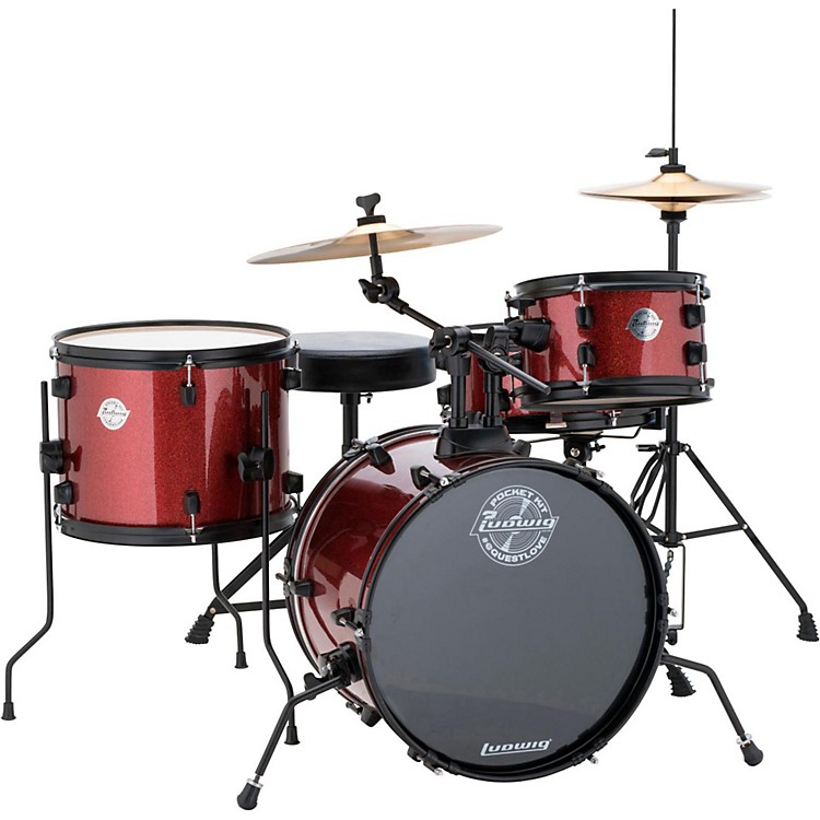 Ludwig Pocket Kit Wine Red Sparkle