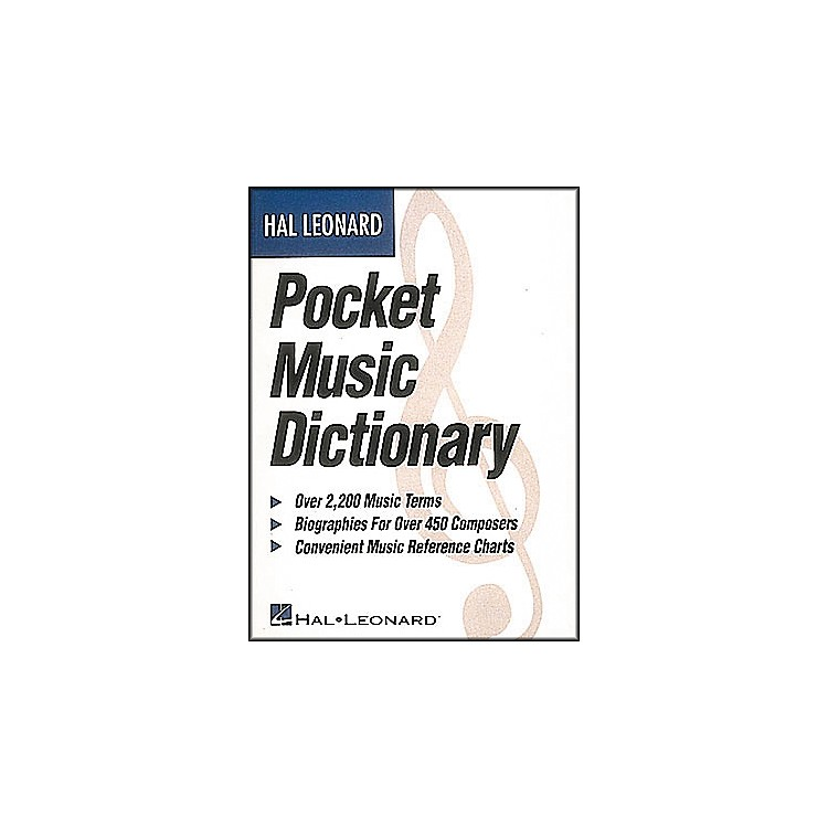 Hal Leonard Pocket Music Dictionary Book