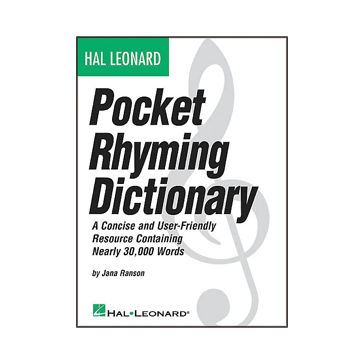 Hal Leonard Pocket Rhyming Dictionary Book