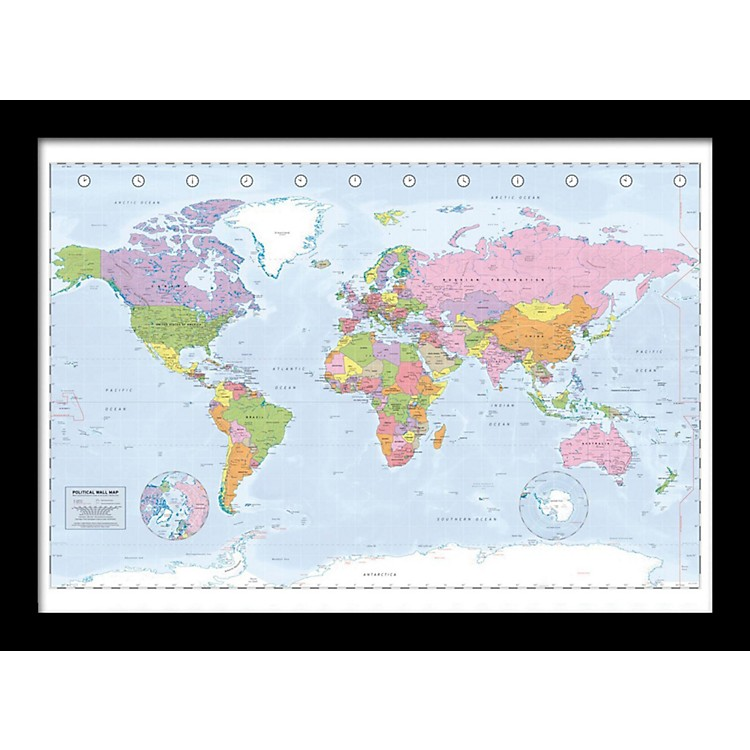 Ace FramingPolitical Map 24x36 Poster