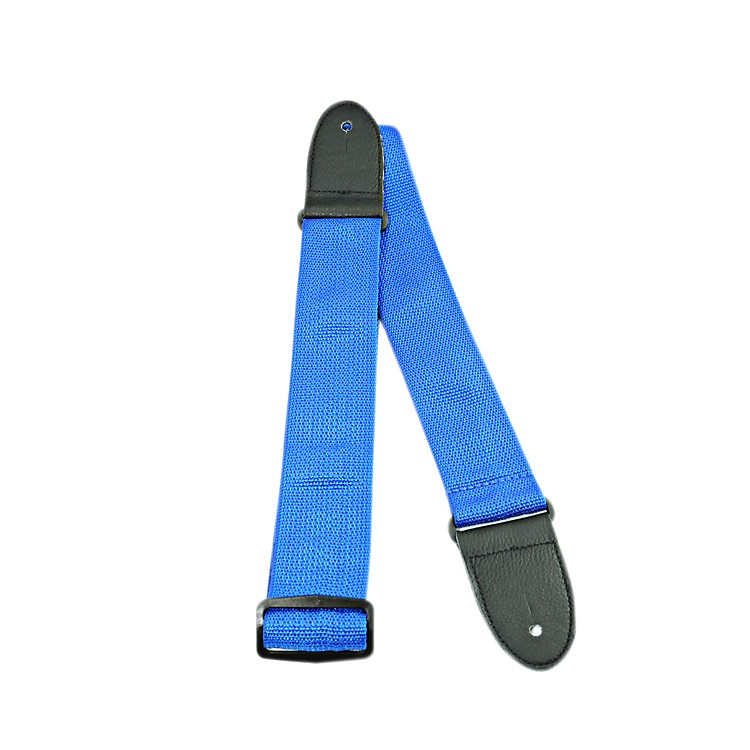 Perri's Poly Pro Guitar Strap with Deluxe Ends Blue