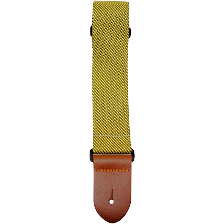 Perri's Polyester Guitar Strap with Leather Ends Tweed 2