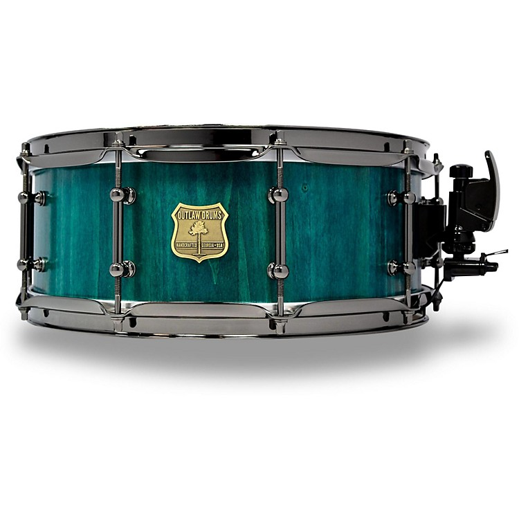 OUTLAW DRUMSPoplar Stave Snare Drum with Black Chrome Hardware14 x 5.5 in.Emerald Cove
