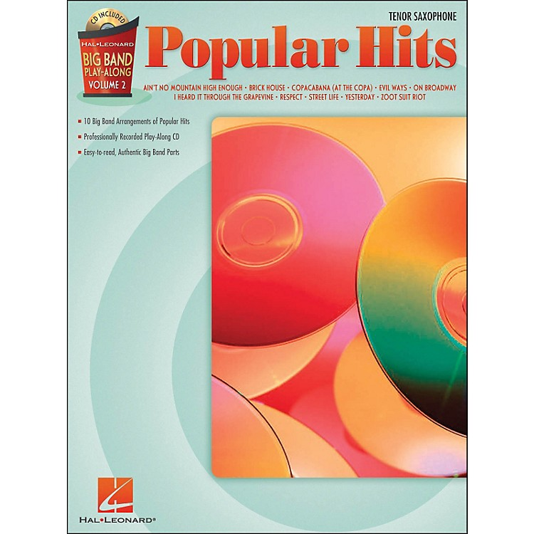 Hal Leonard Popular Hits Big Band Play-Along Volume 2 Tenor Sax