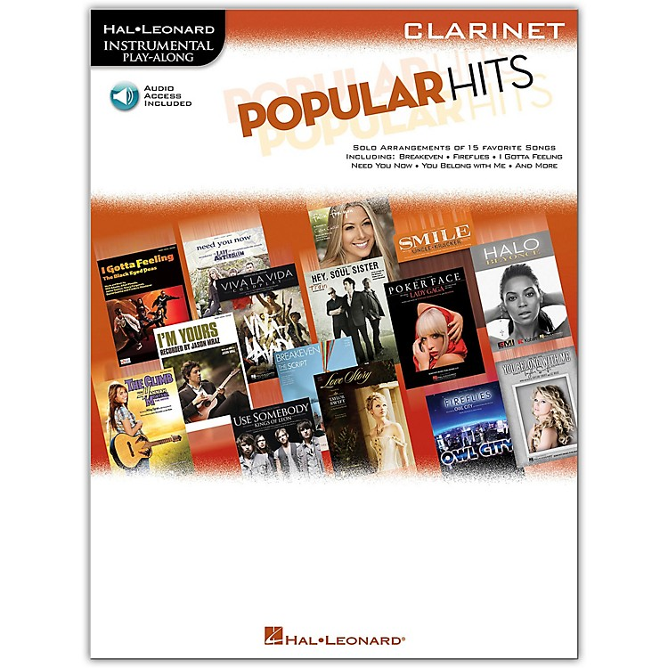Hal Leonard Popular Hits For Clarinet - Instrumental Play-Along Book/CD