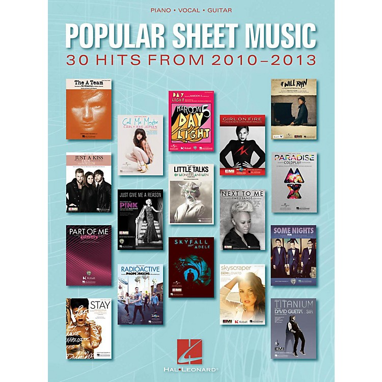 Hal LeonardPopular Sheet Music - 30 Hits From 2010 - 2013 for Piano/Vocal/Guitar