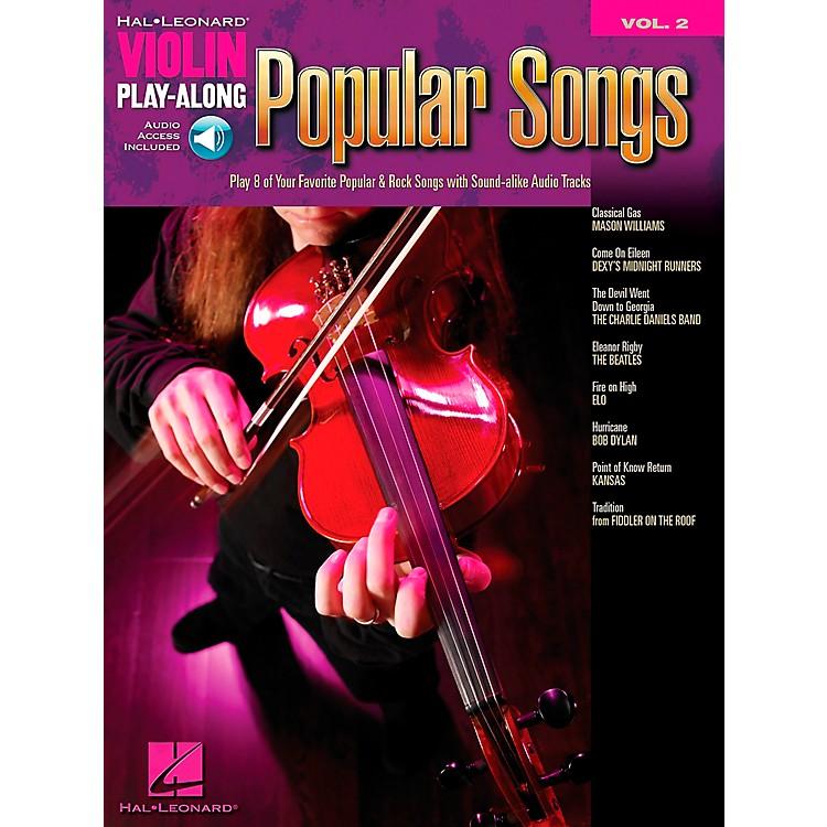 Hal LeonardPopular Songs Violin Play-Along Vol 2 Book/CD