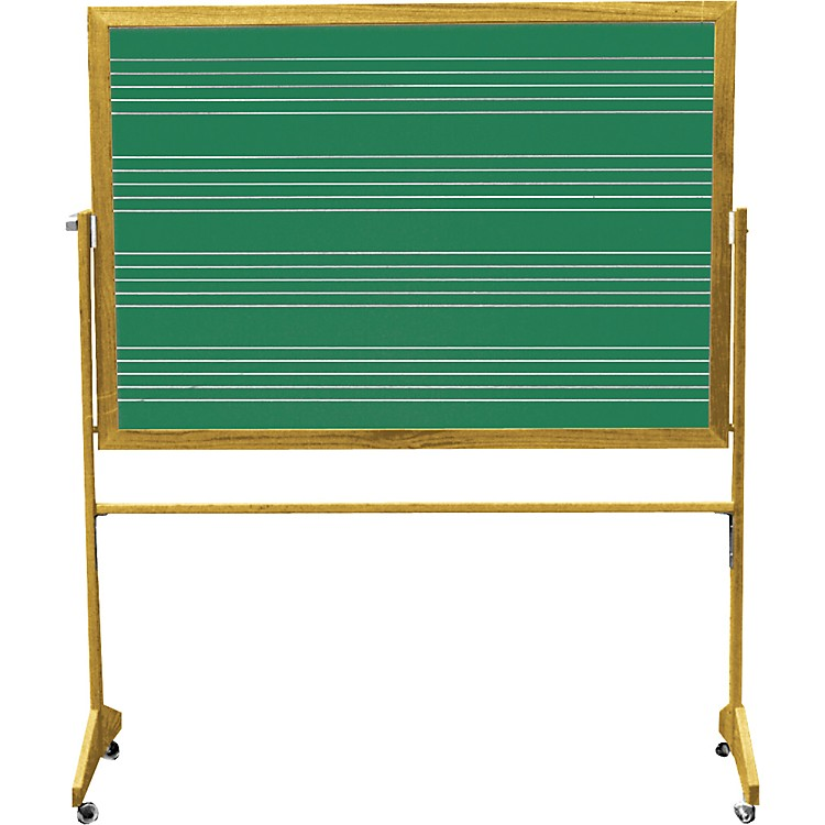 Vecchio Portable Music Staff Chalkboards 3 x 4 ft. Chalkboard (4 Staves)