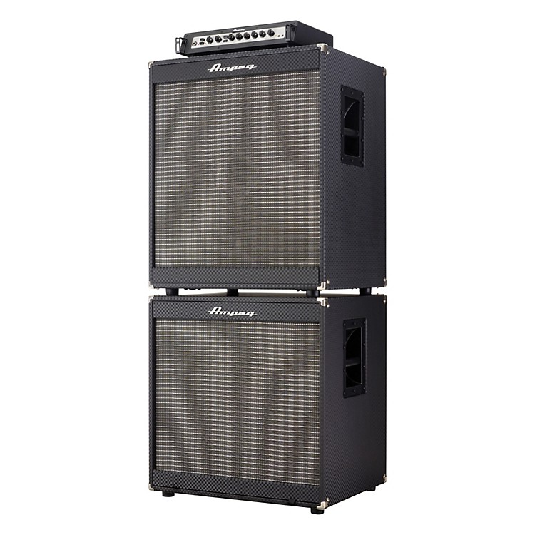 AmpegPortaflex PF800 Head, PF-410HLF 4x10/PF-115LF 1x15 800W Bass Amp Stack