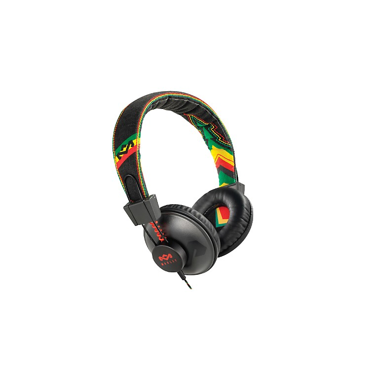 The House of Marley Positive Vibration - Rasta On-ear Headphone (3-button controller)