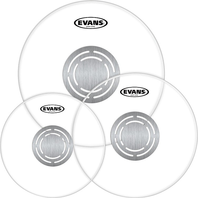 EvansPower Center Clear Drumhead Pack
