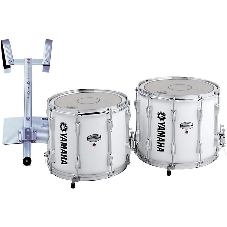 Yamaha Power-Lite Marching Snare Drum with Carrier White Wrap 14 in.