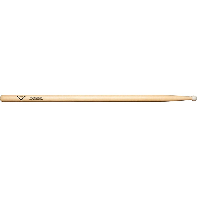 Vater Power Nylon Tip Drumsticks - Pair 3A Natural