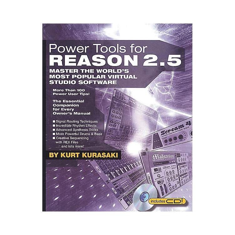 Backbeat Books Power Tools for Reason 2.5 (Book/CD-ROM)