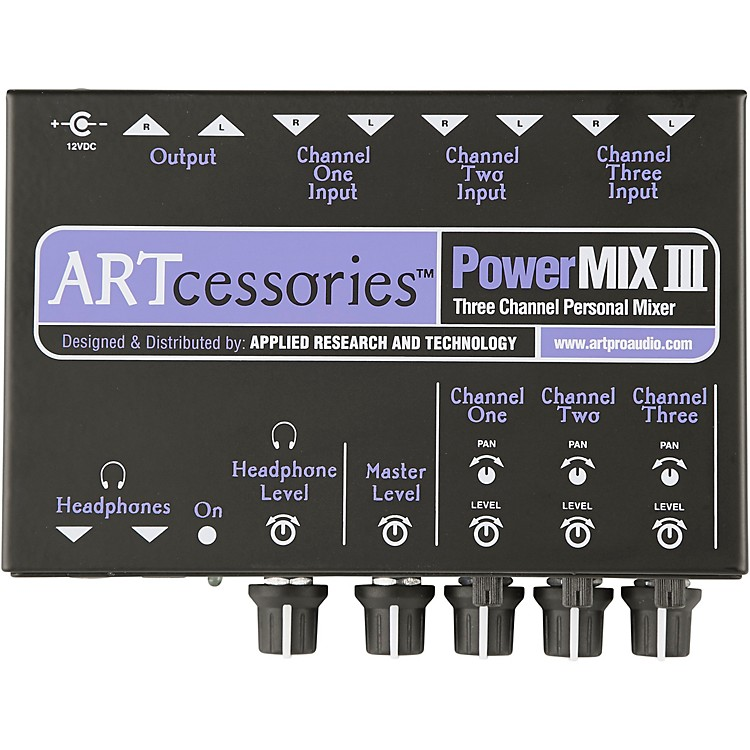 ART PowerMIX III - 3 Channel Personal Mixer