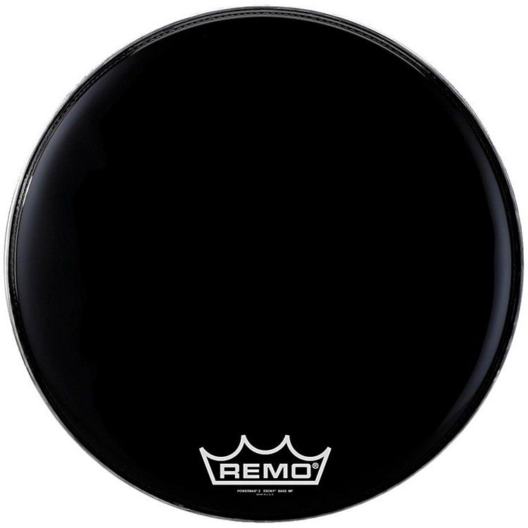 Remo Powermax 2 Marching Bass Drum Head Ebony 16 in.