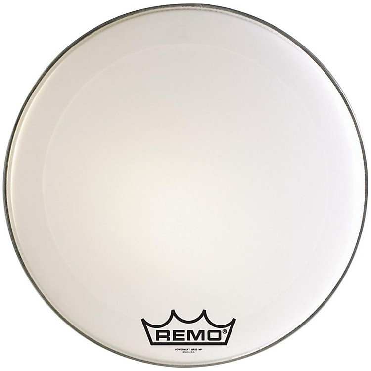 Remo Powermax Marching Bass Drum Crimplock Head Ultra White 22 in.