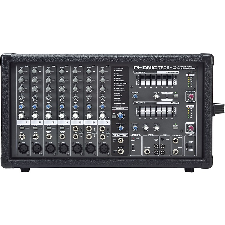 PhonicPowerpod 780 Plus 2X300W 7-Channel Powered Mixer with Digital Effects