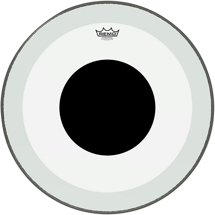 Remo Powerstroke 3 Clear Bass Drum Head with Black Dot 24 in.