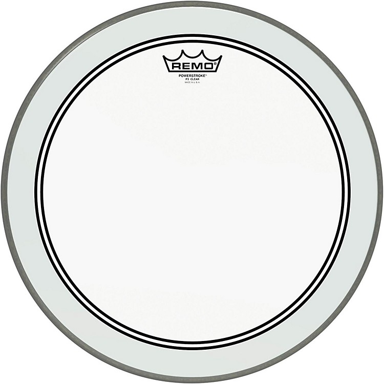 RemoPowerstroke 3 Clear Bass Drum Head with Impact Patch16 in.