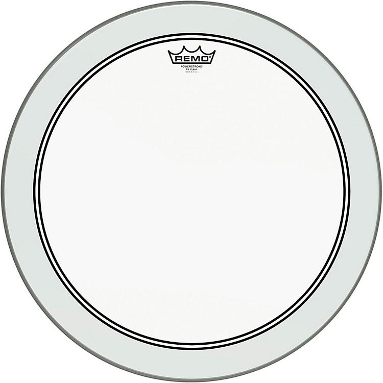 Remo Powerstroke 3 Clear Bass Drum Head with Impact Patch  18 in.