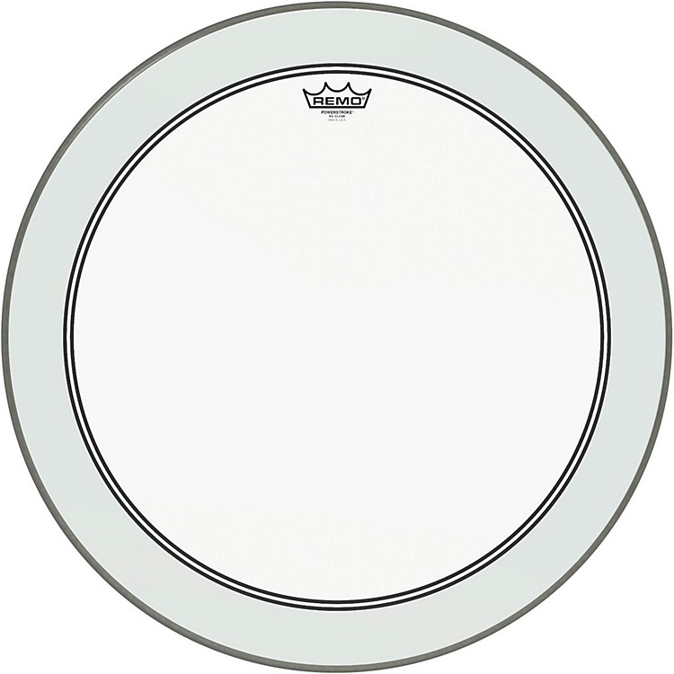 Remo Powerstroke 3 Clear Bass Drum Head with Impact Patch  24 in.