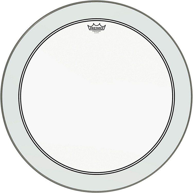 Remo Powerstroke 3 Clear Bass Drum Head with Impact Patch  26 in.