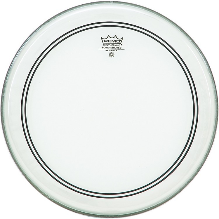 Remo Powerstroke 3 Clear with Dot Batter  14 in.