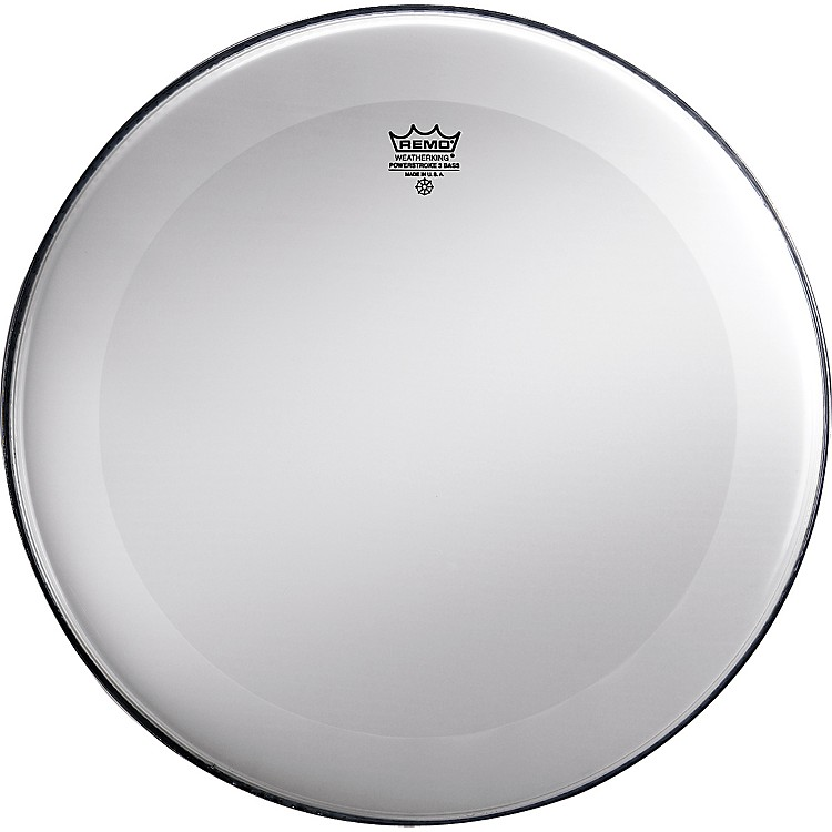 Remo Powerstroke 3 Smooth White No Stripe Bass Drum Head  22 in.