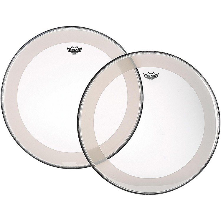 RemoPowerstroke 4 Clear Batter Bass Drum Head with Impact Patch24 in.