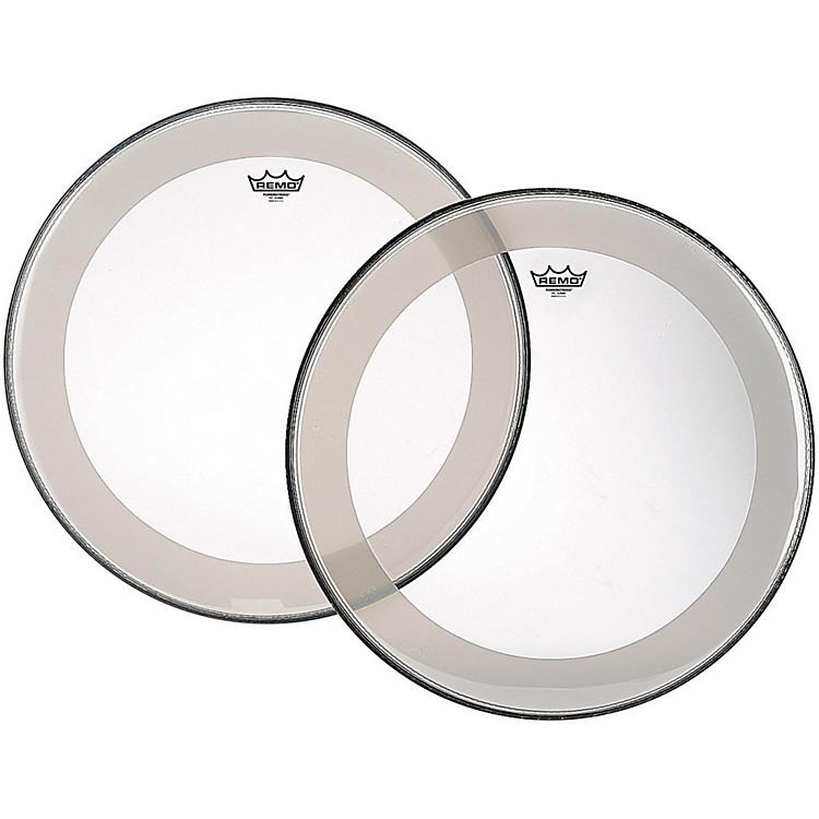 Remo Powerstroke 4 Clear Batter Bass Drum Head with Impact Patch 40 in.