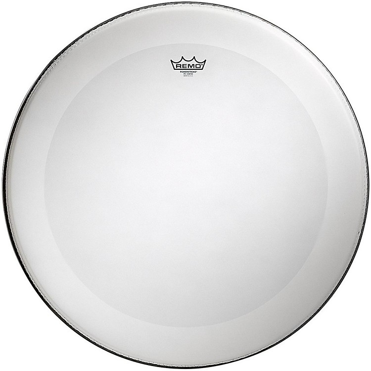 Remo Powerstroke 4 Coated Batter Bass Drum Head with Impact Patch 24 in.