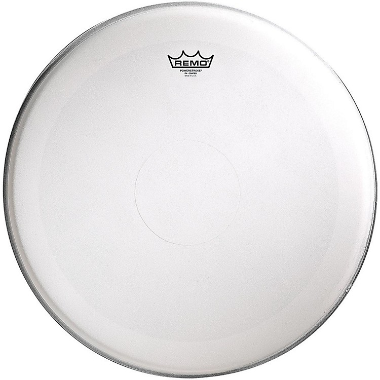 Remo Powerstroke 4 Coated Batter Drum Head with Clear Dot 16 in.