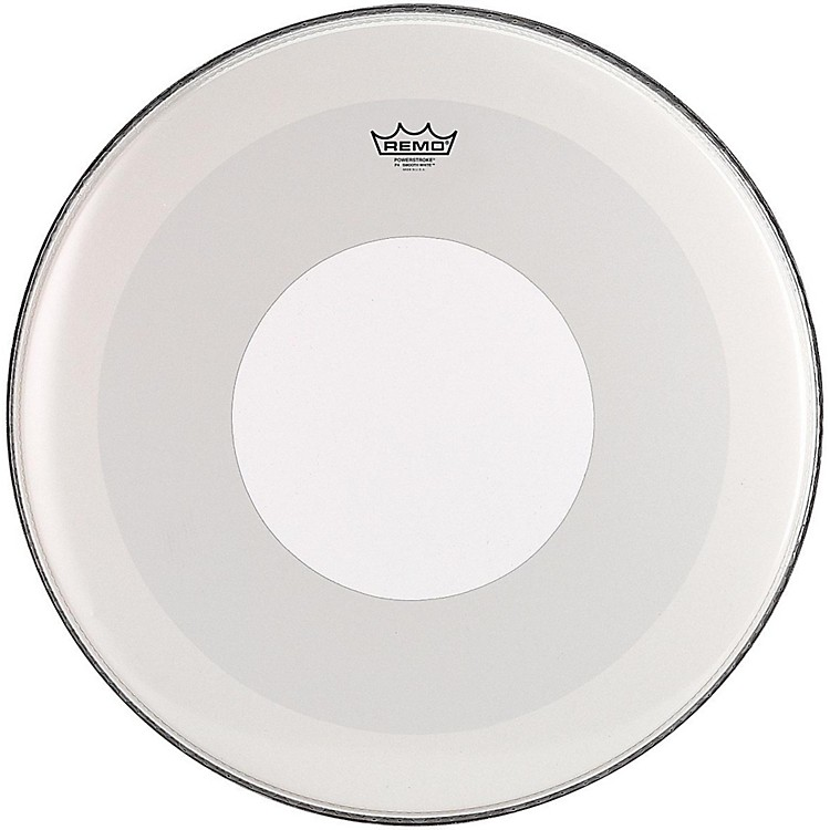 RemoPowerstroke 4 Smooth White Batter Bass Drum Head with White Dot24 in.