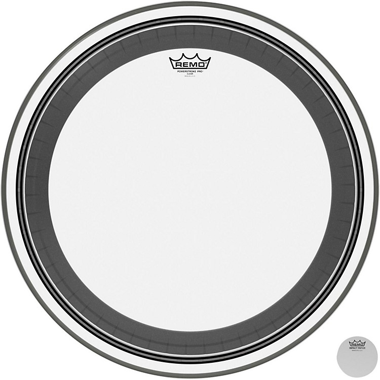 Remo Powerstroke Pro Bass Clear Drumhead 22 inch