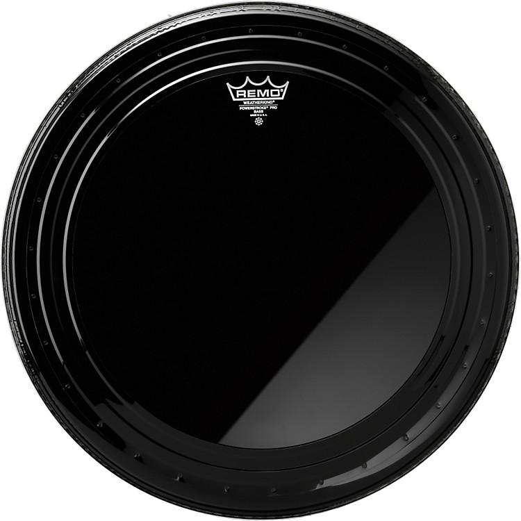 RemoPowerstroke Pro Bass Drumhead Ebony24 in.