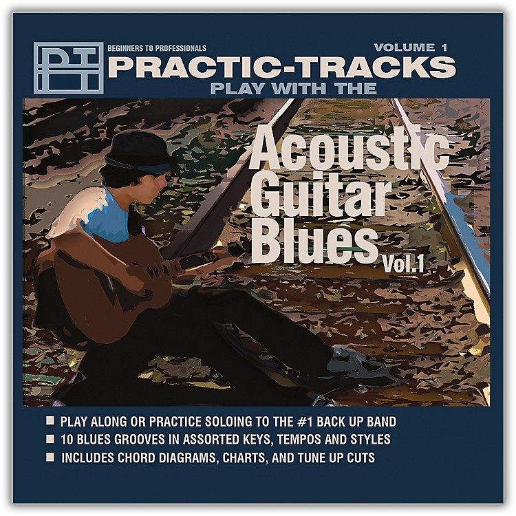 Hal Leonard Practice Tracks Acoustic Guitar Blues Vol 1 Play Along CD