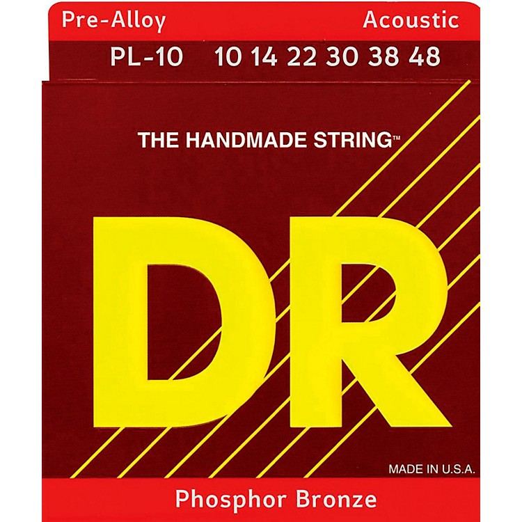 DR Strings Pre-Alloy Phosphor Bronze Lite Acoustic Guitar Strings