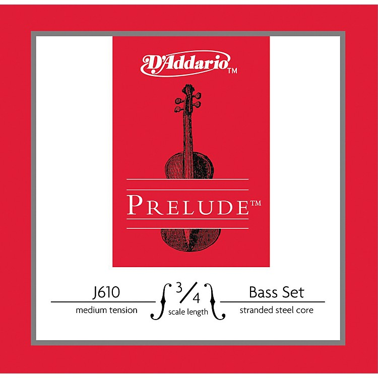 D'Addario Prelude 3/4 Size Double Bass String Set