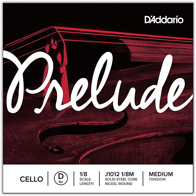 D'Addario Prelude Cello D String 1/8 Size
