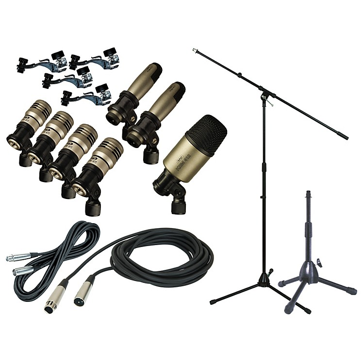 CADPremium 7-Piece Drum Mic Kit with Stand and Cables