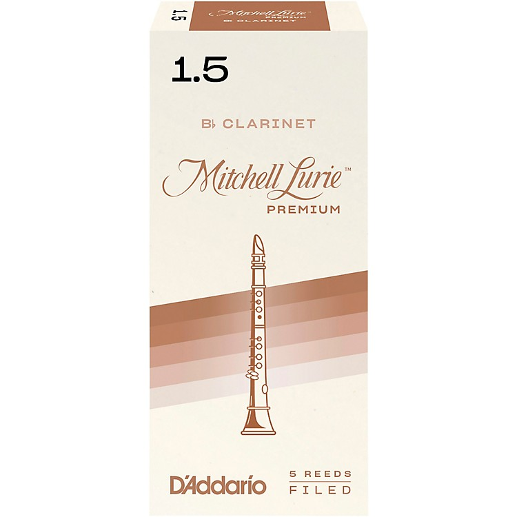Mitchell Lurie Premium Bb Clarinet Reeds Strength 1.5 Box of 5