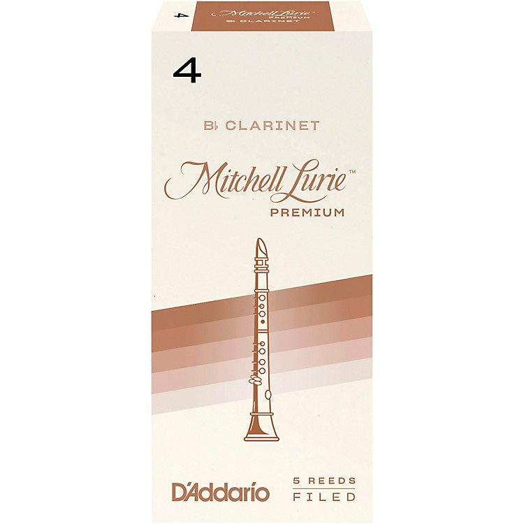Mitchell LuriePremium Bb Clarinet ReedsStrength 4Box of 5