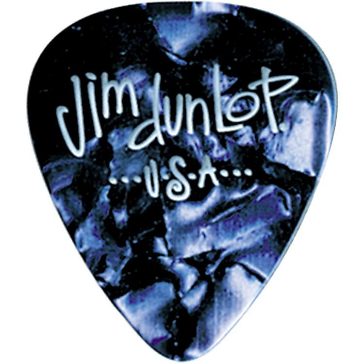 DunlopPremium Celluloid Classic Guitar Picks 1 DozenBlue PearloidMedium