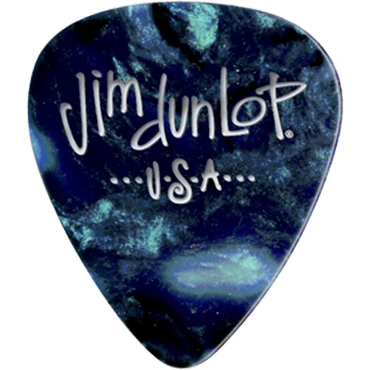 DunlopPremium Celluloid Classic Guitar Picks 1 DozenTurquoise PearloidMedium